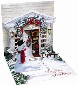Pop Up Karte Weihnachten : pop up 3d weihnachten karte popshot weihnachts schneemann eingangst r 13x13 cm 507439 ~ Buech-reservation.com Haus und Dekorationen