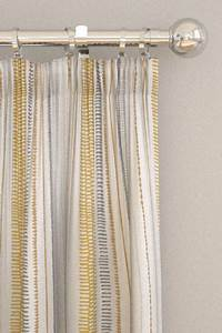 Noki ochre hemp charcoal pencil pleat curtains by for Roller pleat curtains