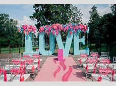 Picture Of Pink And Turquoise Russian Outdoor Wedding
