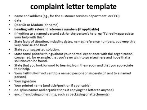 letter  complaint  video