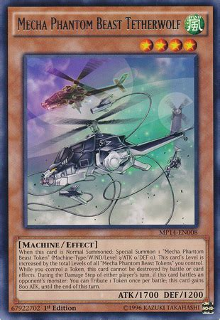 mecha phantom beast deck mecha phantom beast tetherwolf yu gi oh