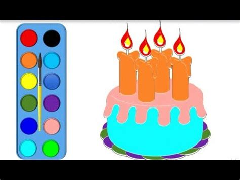 drawing  coloring cake  unicorn coloring pages  kids learn  color coloring