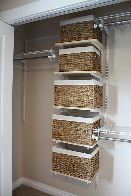Baskets On Brackets Closet Organizer, Great For Organizing
