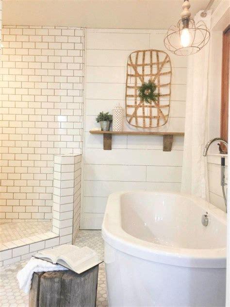 rustic farmhouse master bathroom farmhouse master bathroom subway tiles rustic wood and Rustic Farmhouse Master Bathroom