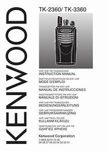 Notice Kenwood Tk-3360
