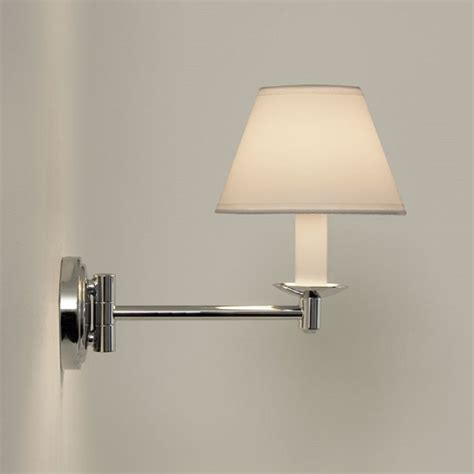 traditional swing arm bathroom wall light white pvc