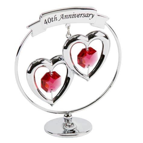 anniversary gift ruby wedding present crystocraft
