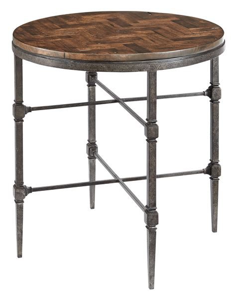 wood and metal end tables end table with wood top and metal base bernhardt