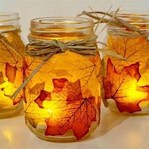 Bricolage Automne Primaire : 85 diy id es pour un bricolage d 39 automne pots en verre orange et pots ~ Dode.kayakingforconservation.com Idées de Décoration
