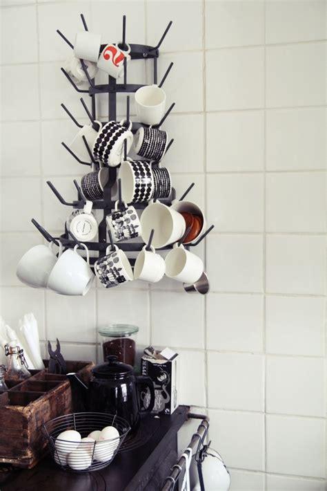 wall mounted coffee mug tree   Coffee bar ideas   Pinterest