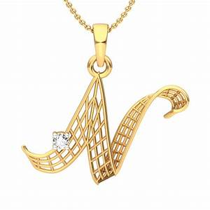 the 39n39 alphabet pendant diamond jewellery at best With letter n pendant