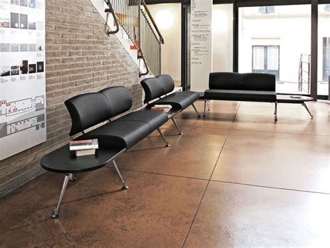 Modular Bench, Upholstered Seat And Back, For Waiting Areas