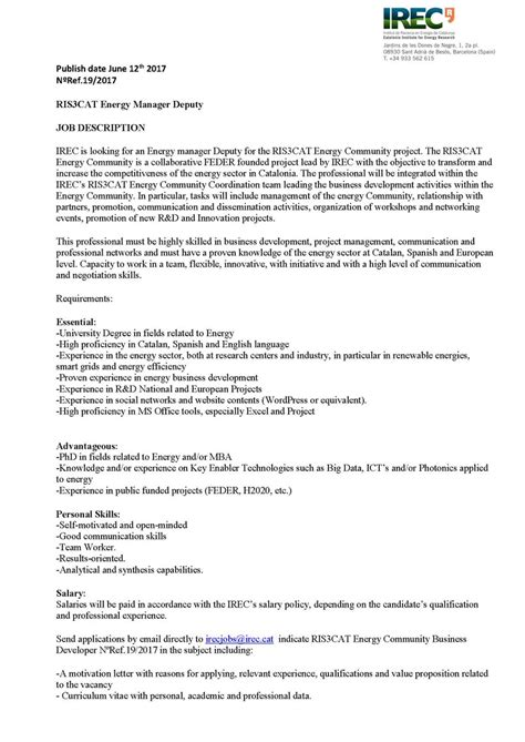 motivation letter irec on quot willing to join irec open vacancy as 23702   DKzW1O XoAArbyp