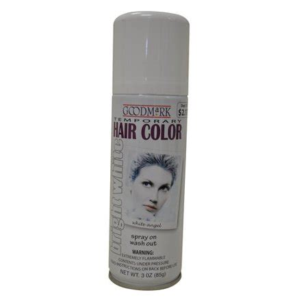 goodmark temporary hair color spray white walmartcom