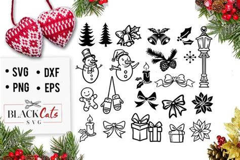 Download and upload svg images with cc0 public domain license. Christmas SVG pack cutting files - BlackCatsSVG