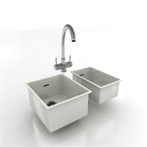 kitchen sink model kitchen taps sinks 3d model 2790
