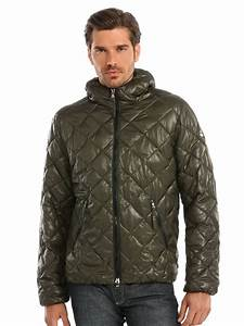 Guess Marciano Quilted Down Jacket in Green for Men | Lyst