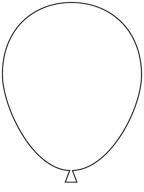 Balloon Template Or Print This Amazing Coloring Page Balloon
