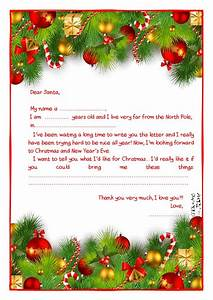 ready letter to santa claus template more text xmas With letters to santa decoration