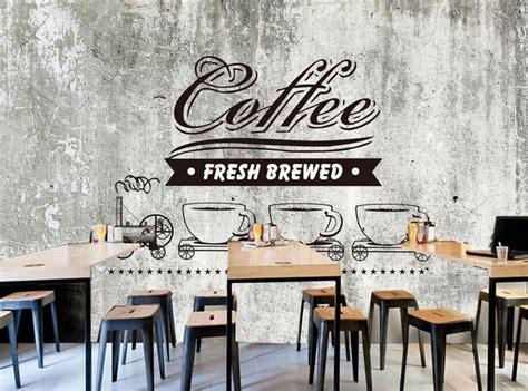 buy custom food shop wallpaperold cement