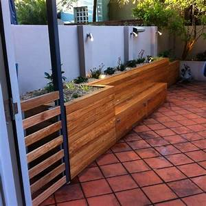 Raised Garden Bed  Bench Seat And Storage Area  Cladded