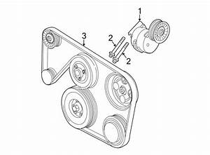 Saturn Ls2 Accessory Drive Belt Tensioner Assembly  Belts