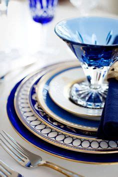 blue table settings  pinterest table settings royal