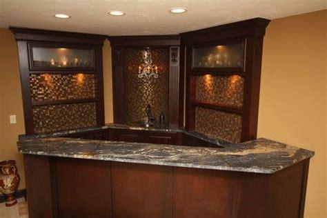 Kitchen Corner Bar Ideas by Corner Bar Back Splash Made Of Wine Corks Or Caps