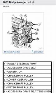 Serpentine Belt Diagram   We Changed The Alternator And
