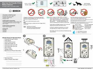 Bosch Security Systems Blg2 Tritech Motion Detectors User
