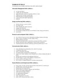 Knowledge And Skills Resume by Skills And Abilities On A 28 Images Exles Of Customer
