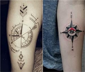 Dessin Fleche Tatouage : tattoo kompass symbolische bedeutung 20 moderne designs ~ Melissatoandfro.com Idées de Décoration