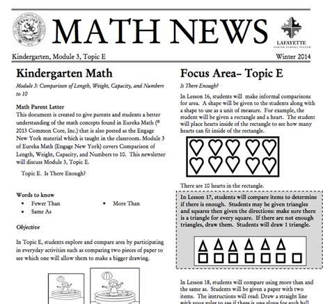 Grade 3 Module 1 Topic A Parent Newsletter Developed By The 25 Best Parent Newsletter Ideas On Parent