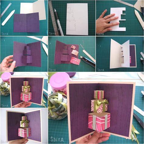 diy  gift box pop  card