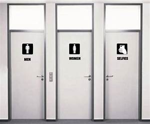 Restrooms in the future the meta picture for Cool bathroom signs