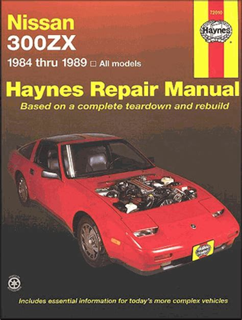 motor repair manual 1994 nissan 300zx regenerative braking nissan 300zx 300zxturbo repair manual 1984 1989 haynes 72010