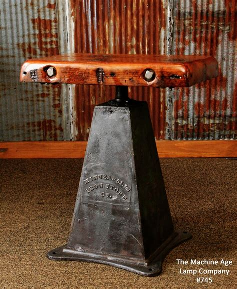 antique industrial table lamp stand iron base minneapolis