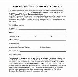 wedding contract template 24 download free documents With wedding vendor contract template