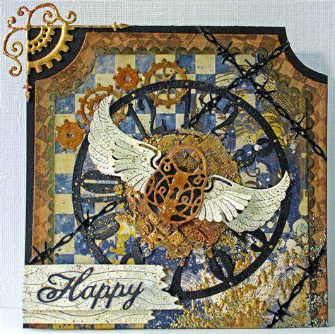 cheery lynn designs blog happy steampunk card  corina