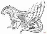 Coloring Wings Dragon Fire Mudwing Supercoloring Printable Drawing sketch template