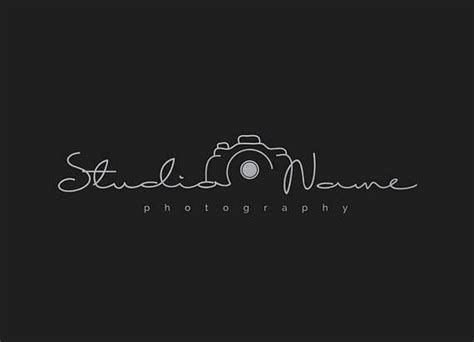 photography modern camera logo  multiple foil colors