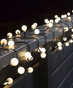 led globelichterkette warm weiss lichterkette fur aussen With französischer balkon mit garten lichterkette solar
