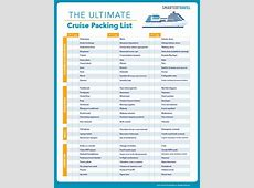 The Ultimate Cruise Packing List What to Pack for a