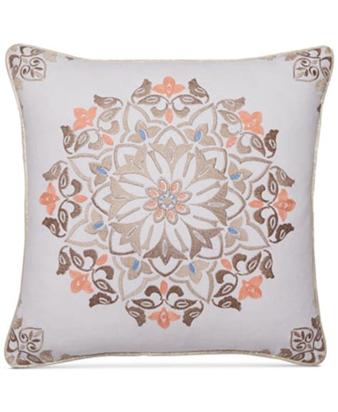 macys throw pillows martha stewart collection jardin medallion 18 quot square