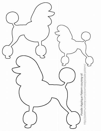 Poodle Template Sock Hop Skirt Pattern Drawing