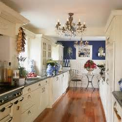 blue kitchen decorating ideas blue and white galley kitchen kitchen decorating design ideas housetohome co uk