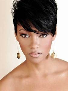 pixie cut black hair