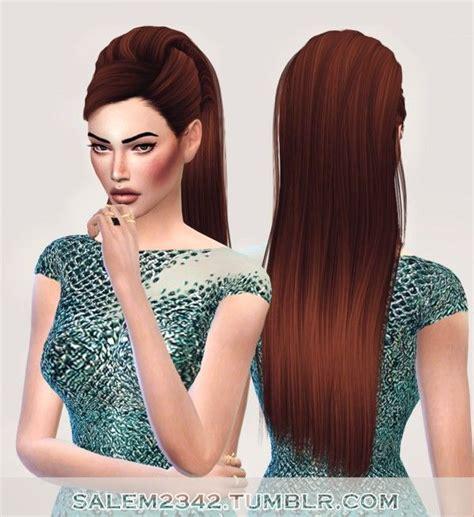 at home hair styles salem2342 stealthic reprise hair retexture sims 4 3370
