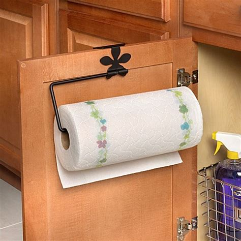 over the cabinet paper towel holder spectrum flower over the cabinet door paper towel holder
