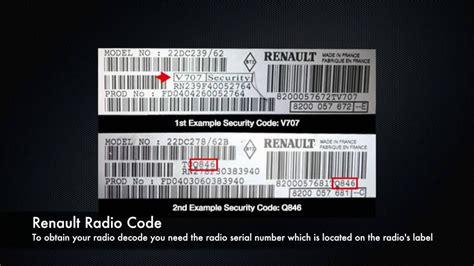 Renault Radio Code From Serial Number